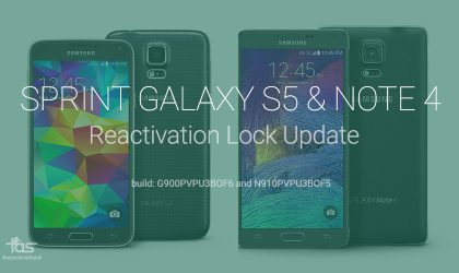 Sprint updates Galaxy S5 and Note 4 but it's not Android 5.1, brings reactivation lock security to both devices