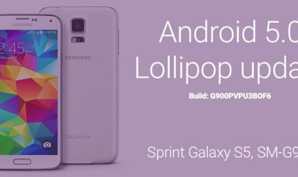 Sprint Galaxy S5 Android 5.0.2 update G900PVPU3BOF6: direct download link and install instructions