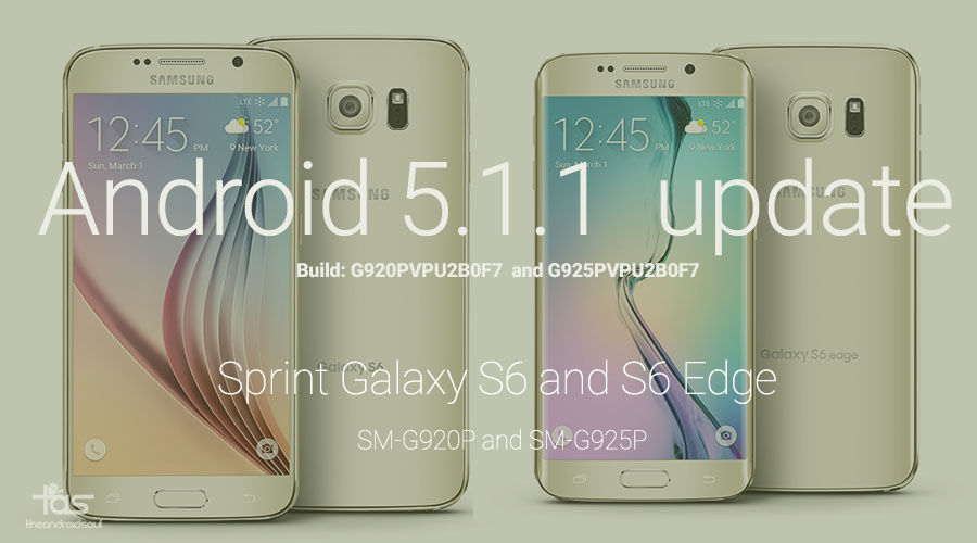 Download Sprint Galaxy S6 and S6 Edge 5 1 1 update in Odin TAR