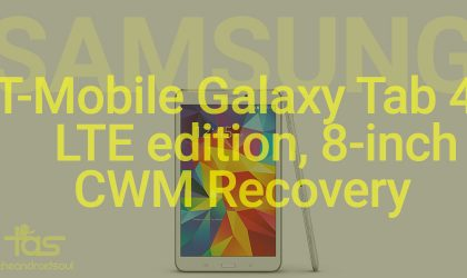 ClockworkMod CWM recovery for T-Mobile Samsung Galaxy Tab 4 LTE 8-inch [TWRP alternative]