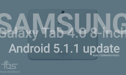 T330NUUEU1BOG1 Android 5.1.1 update for Galaxy Tab 4 8-inch USA [Download]