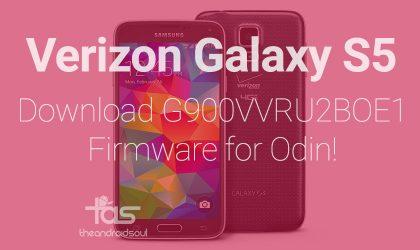 G900VVRU2BOE1: Verizon Galaxy S5 OE1 Firmware [Odin TAR]
