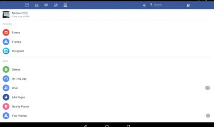 Take a look at the new Android tablet UI of Facebook