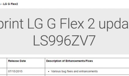 LS996ZV7: New OTA update rolling for Sprint LG G Flex 2!