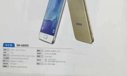Samsung Galaxy A8 brochure leaks revealing complete specifications and features