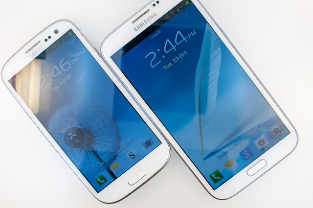 galaxy s3 and note 2