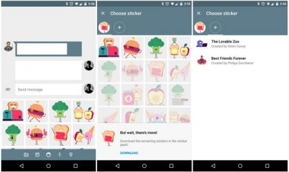 Google Messenger update brings stickers and location sharing features