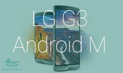 LG G3 boots up with Android M preview based custom ROM
