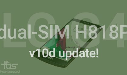 LG G4 Dual Sim H818P receiving v10d OTA update!