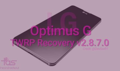Here is latest LG Optimus G TWRP recovery v2.8.7.0 [Download]
