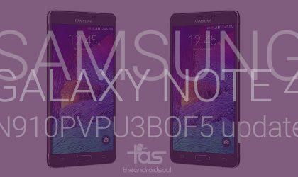 N910PVPU3BOF5: Download Sprint Galaxy Note 4 update in Odin TAR format!