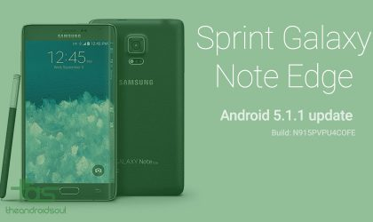 Sprint Galaxy Note Edge gets Android 5.1.1 OTA update OFE, same build also out for S6 and S6 Edge!