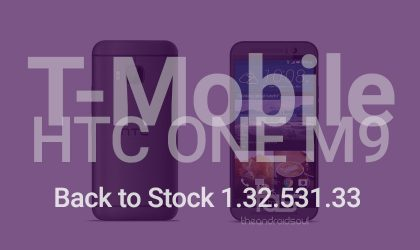 T-Mobile HTC One M9 Back to Stock: Firmware and recovery (version 1.32.531.33)