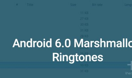 Download Android 6.0 Marshmallow Ringtones pack