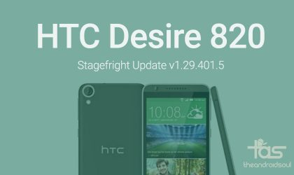 HTC Desire 820 receiving Stagefright fixer OTA update in Europe to version 1.29.401.5