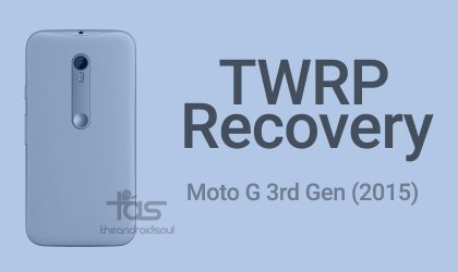 Moto G 3rd Gen (2015) TWRP recovery and Root [Guide]