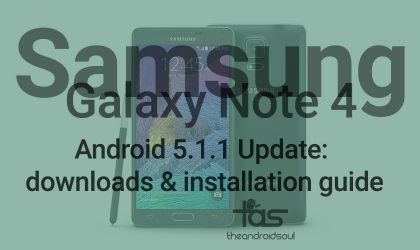 Andorid 5.1.1 Update for T-Mobile Galaxy Note 4