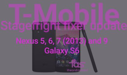 T-Mobile rolling out Stagefright fixer update for Nexus and Galaxy Lineup