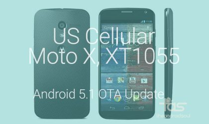 Download US Cellular Moto X XT1055 Android 5.1 OTA update with Stagefright fix included