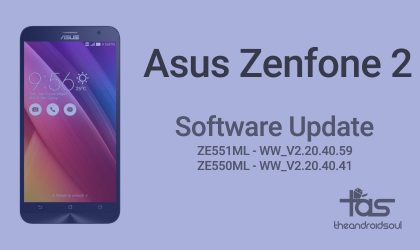 Asus Zenfone 2 receives new update, WW_V2.20.40.59 for ZE551ML while WW_V2.20.40.41 for ZE550ML variant