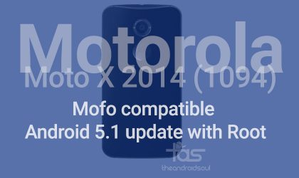 Republic Wireless Moto X 2014 5.1 update with Mofo root [XT1094 only]