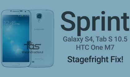 Sprint HTC One, Samsung Galaxy S4 and Galaxy Tab S 10.5 receive update to fix Stagefright vulnerability