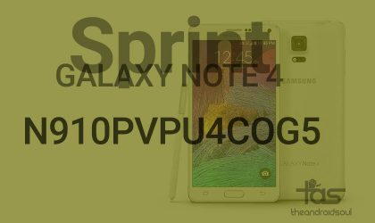 Download N910PVPU4COG5 Android 5.1.1 update for Sprint Galaxy Note 4 [Stock Odin TAR]