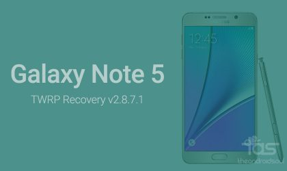 Samsung Galaxy Note 5 TWRP Recovery [Dual-SIM variant also added]