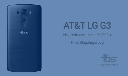 AT&T LG G3 gets new update to D85021r but still not Android 5.1