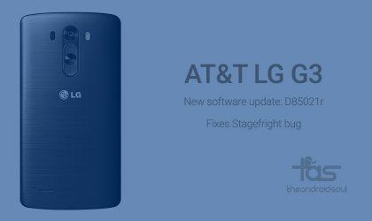 AT&T LG G3 gets new update to D85021r but still not Android 5.1