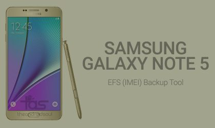 How To Backup EFS on Samsung Galaxy Note 5