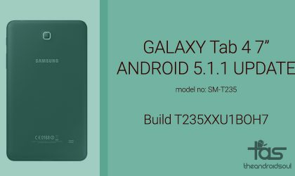 [Download] Samsung Galaxy Tab 4 7.0 LTE receives Android 5.1.1 update
