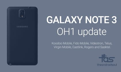 OH1 update for Galaxy Note 3 in Canada is live for Rogers, Telus, Virgin Mobile, Sasktel, Videotron, etc.