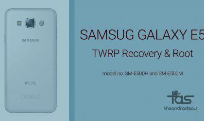Samsung Galaxy E5 Android 5.1.1 Root and TWRP Recovery