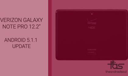 Android 5.1.1 Lollipop update for Verizon Galaxy Note Pro 12.2″ tablet rolling out now!