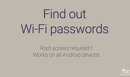 How to find out WiFi passwords of an Android device?