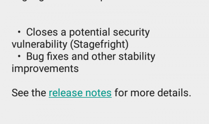 New update for Moto X 1st Gen Developer Edition XT1053 fixes Stagefright bug!