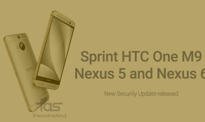 Sprint HTC One M9 OTA update to fix Stagefright, while Nexus 5 and 6 also receive security update