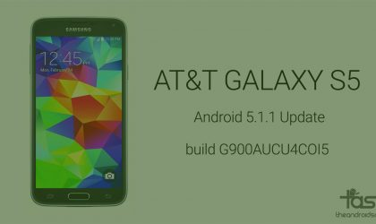 AT&T Galaxy S5 receives Android 5.1.1 update in build G900AUCU4COI5