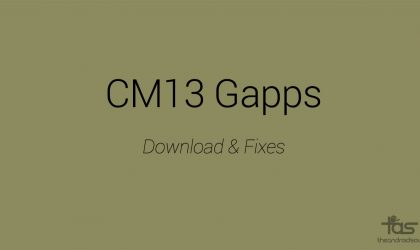 Download CM13 Gapps