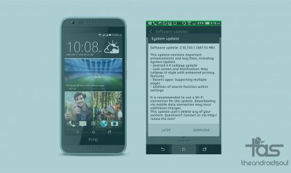 [OTA Download] HTC Desire 820 Dual SIM gets Android 5.0 Lollipop update in India today!