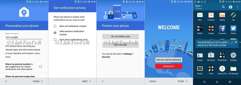 HTC Marshmallow Update Screenshots