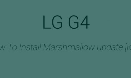 [KDZ] Download LG G4 Marshmallow update (20A)
