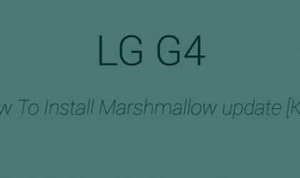 [KDZ] Download LG G4 Marshmallow update (20A)