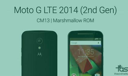 Get Marshmallow update on Moto G LTE (2014) via CM13 ROM