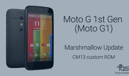 Get Moto G 1st Gen (G1) Marshmallow update via CM13 ROM