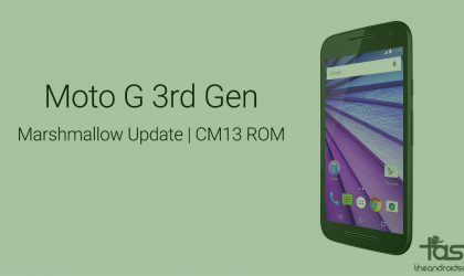 Get Moto G3 Marshmallow update via CM13 ROM