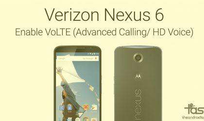 How to Fix Verizon Nexus 6 VoLTE (Advanced Calling/HD Voice) on Marshmallow