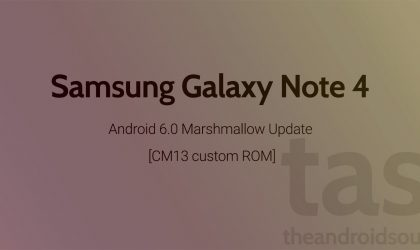 Galaxy Note 4 CM13 gets you Android 6.0 Marshmallow Update unofficially