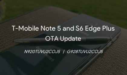 T-Mobile Note 5 and S6 Edge Plus OTA update (COJ5) rolling out with Gear VR support, Security patches and bug fixes